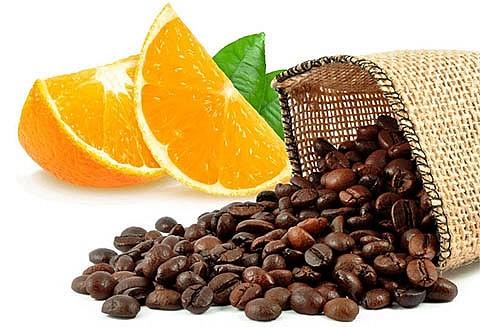 Апельсин и кофейные зерна